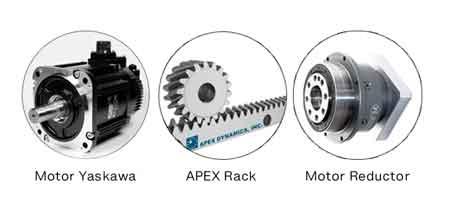 motor-yaskawa-apex-motor-reductor-equipo-de-corte-por-laser-de-fibra
